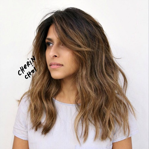 Shaggy Brown Ombre Hairstyle