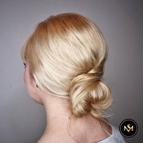 Low Bun With A Twist