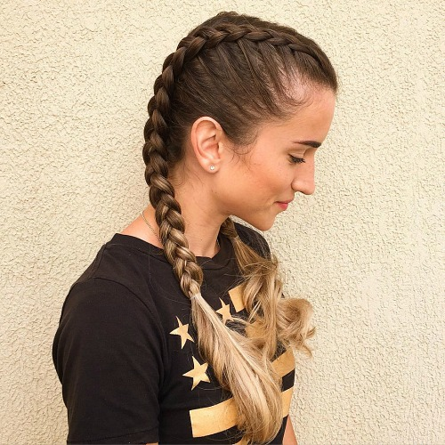 Full Double French Braids