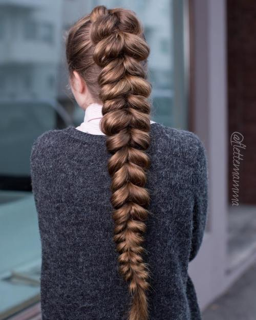 Long Chunky Pull Through Braid