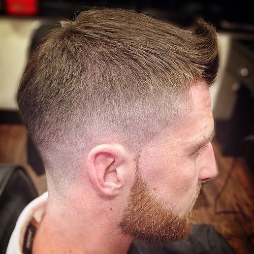 quiff haircut with fade