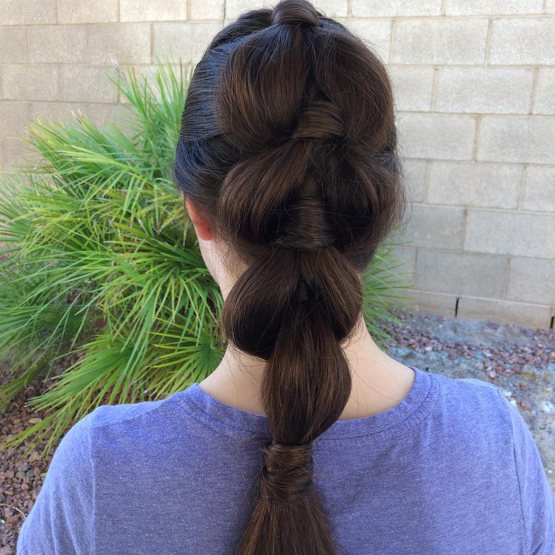 Ponytail Braid For Thick Hair
