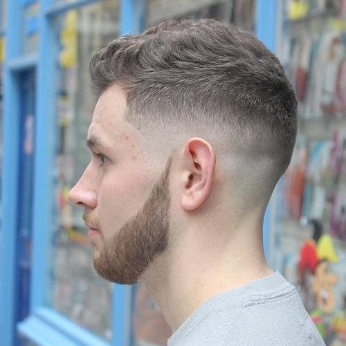 Ivy League cut for wavy hair