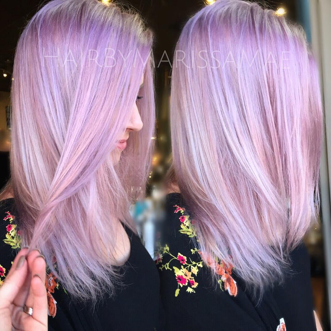 Medium Lilac Hairstyle