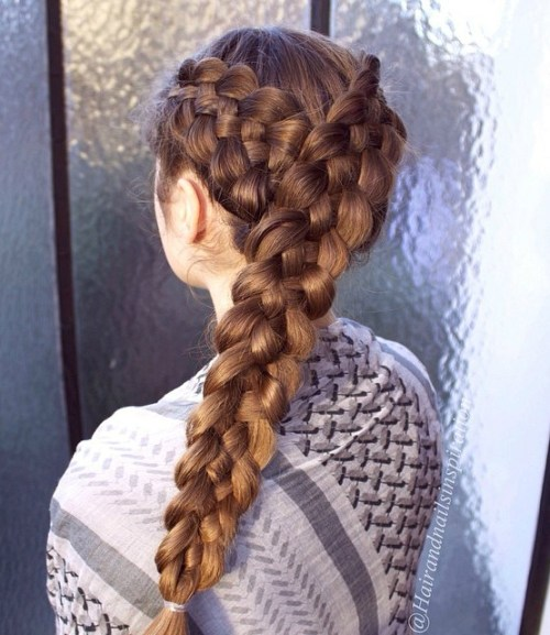 Two Diagonal Strand Braids