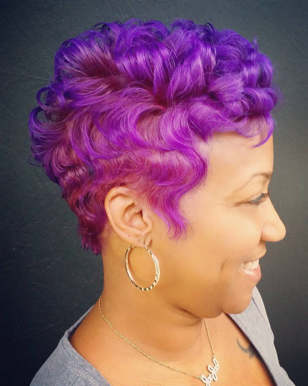Purple Pixie Hairstyle