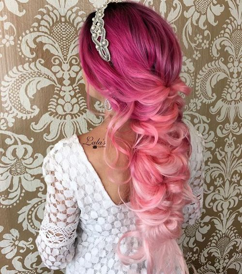 Magenta To Pastel Pink Ombre