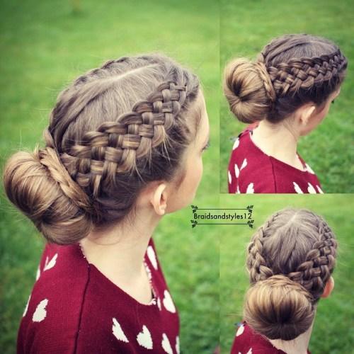 Strand Braid Crown And A Bun