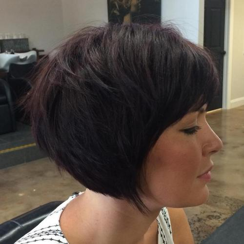 Layered Brunette Bob