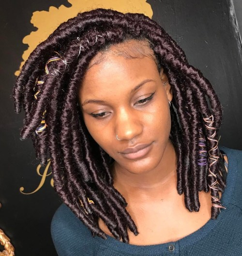 Mid-Length Thick Layered Crochet Locs