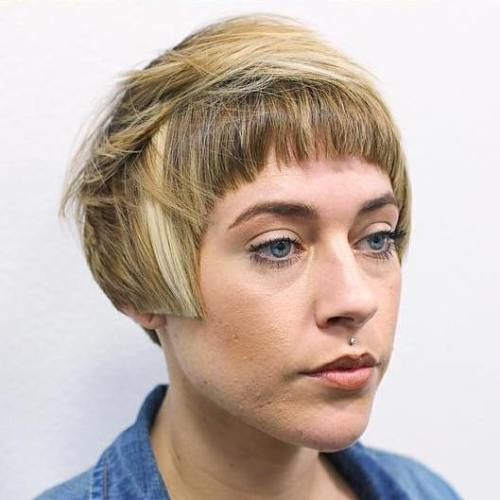 Pixie Bob Haircut With Short Bangs