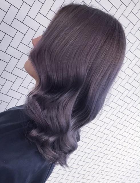 Soft Ash Violet Brown Ombre