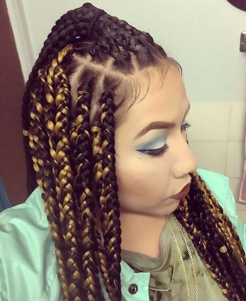 Dookie Braids With Half Up Ponytail
