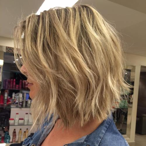 Straight Cut Bob With Choppy Layers