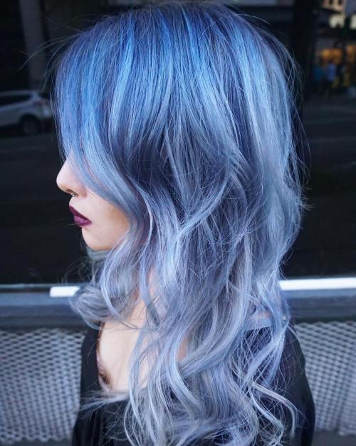 Pastel Blue Ombre Hair
