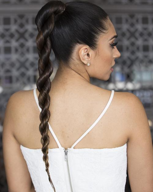 High Ponytail With A Twist