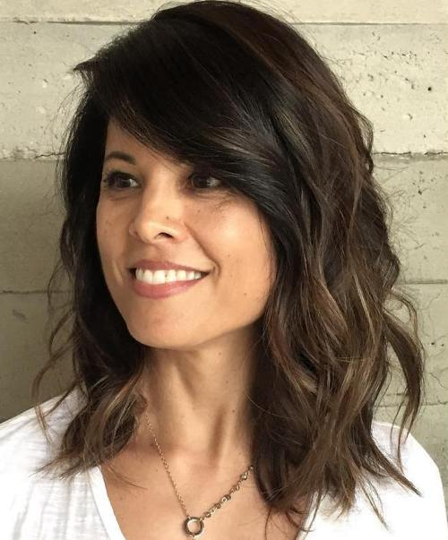 womens mid length haircuts 20 and flattering medium hairstyles for of all ages 5088 | 2 medium wavy sideparted hairstyle