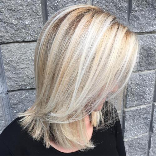 Shoulder-Length Blonde Hairstyle