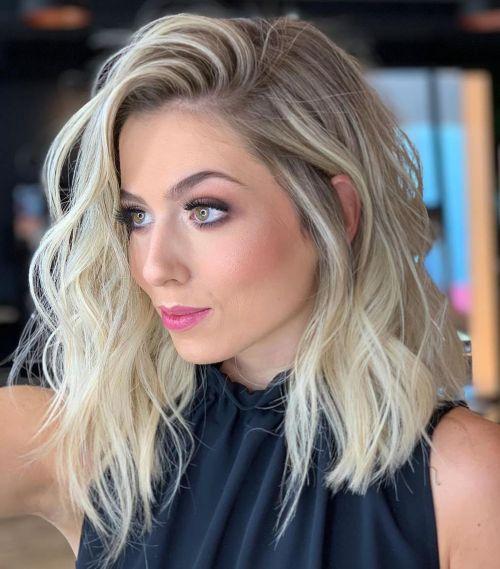 Shoulder Length Blonde Lob