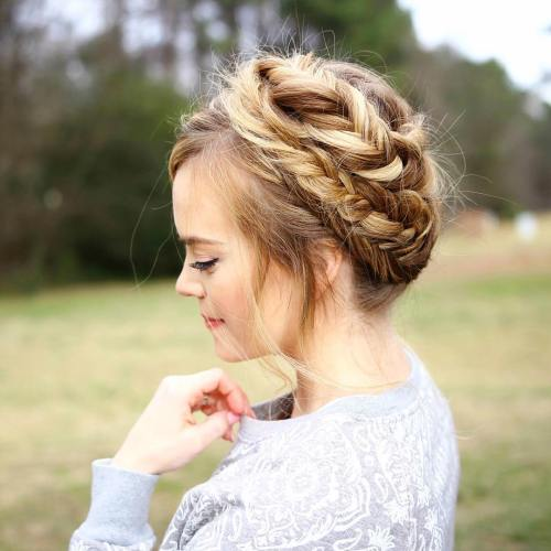 Updo With Messy Fishtails