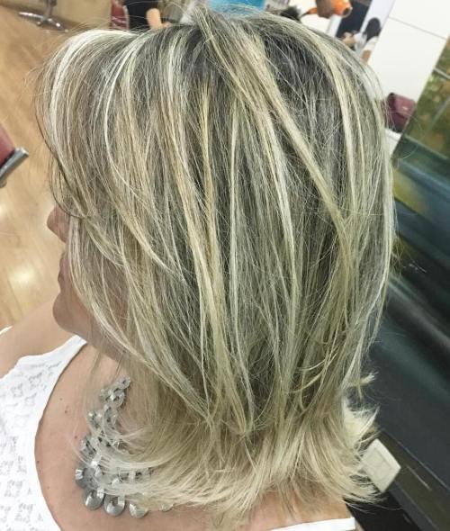 Mid-Length Layered Blonde Balayage Hair