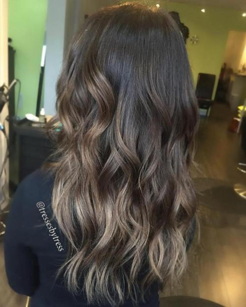Subtle Ash Brown Balayage