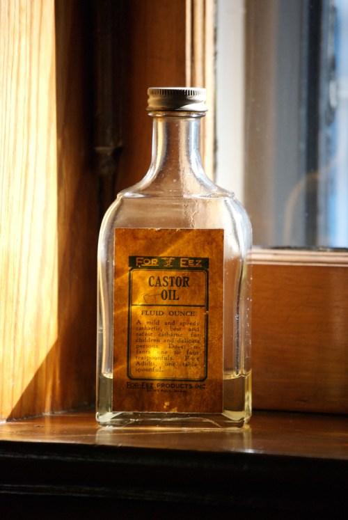bottle of castor oil