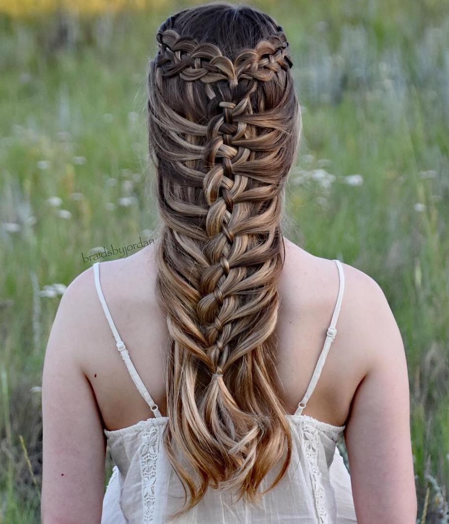 Mermaid Braid With A Ribbon Braid