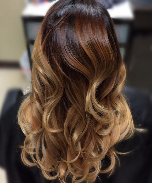 Blonde, Red And Brown Balayage Hair