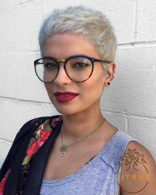 Extra Short Blonde Pixie