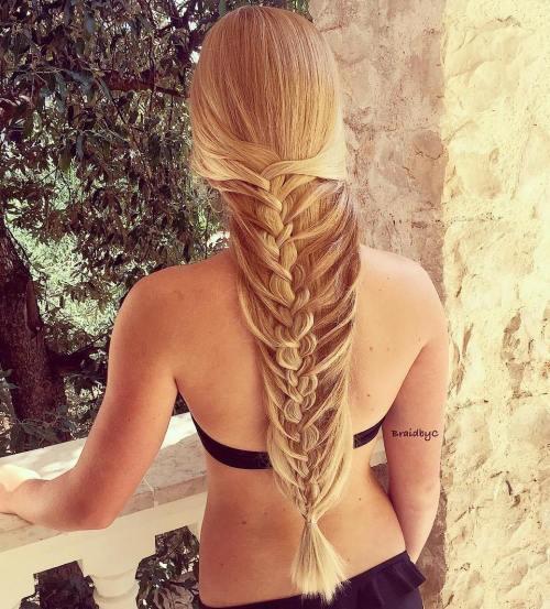 Mermaid Braid For Long Straight Hair