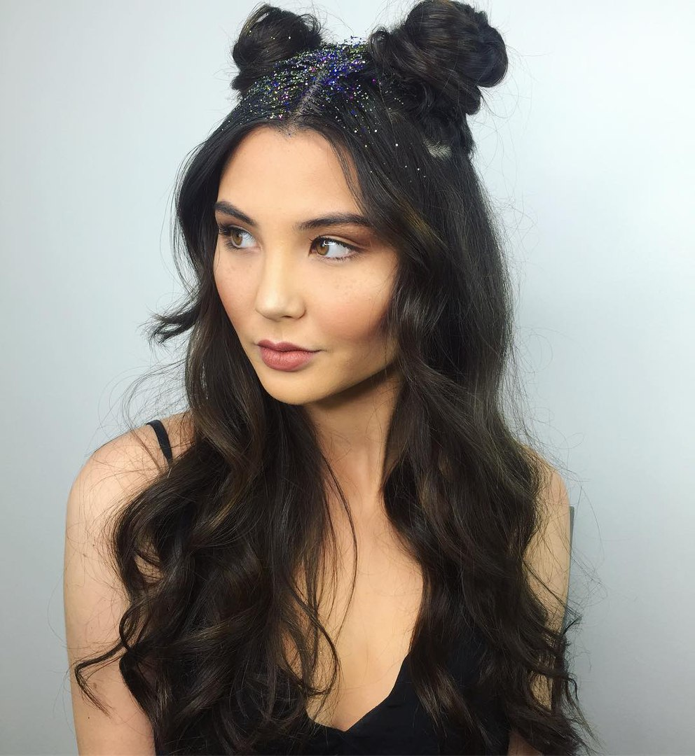 Half Up Horn Buns Hairstyle