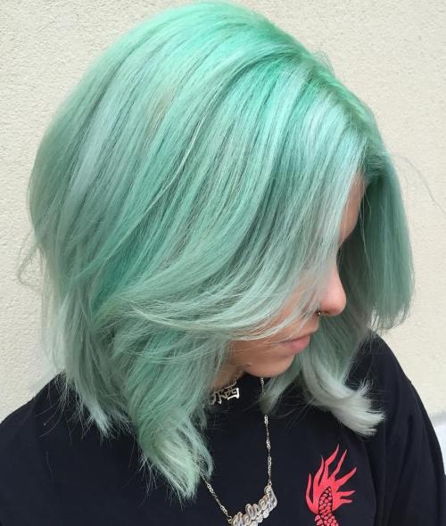 Pastel Green Ombre Lob