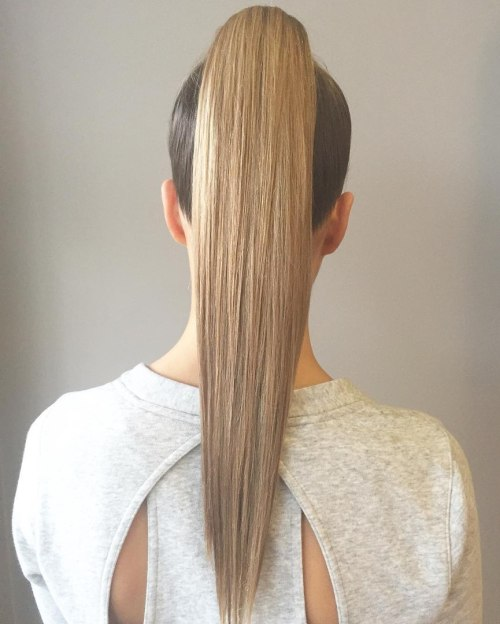 Sleek Ponytail For Long Hair