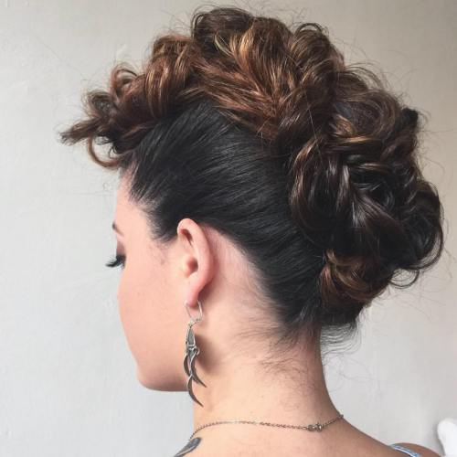 Looped Mohawk Updo