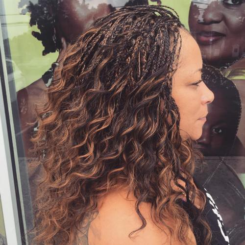 Wavy Tree Braids With Highlights