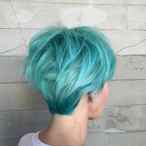 Long Turquoise Pixie
