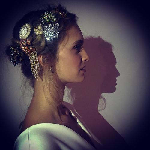 Updo With Sparkly Brooches