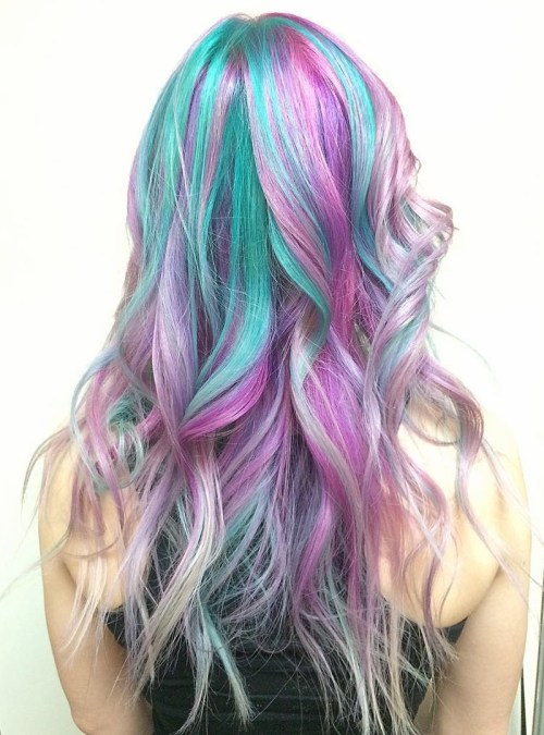 Teal And Pink Pastel Hair