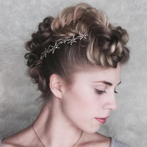 Braided Mohawk With Hair Clips