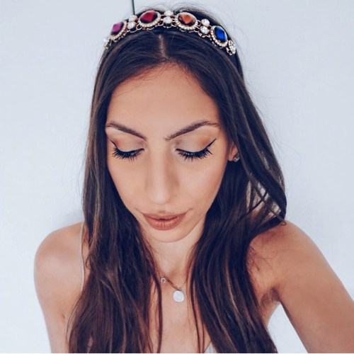 Simple Hairstyle With Crown Headband