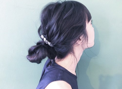 Messy Knot Updo