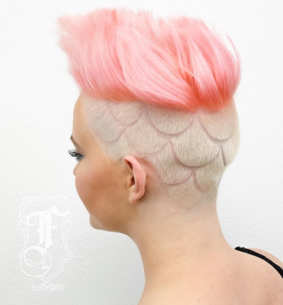 Pastel Pink Undercut
