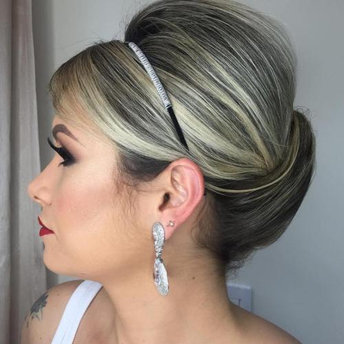 Sleek Bridal Updo For Shorter Hair