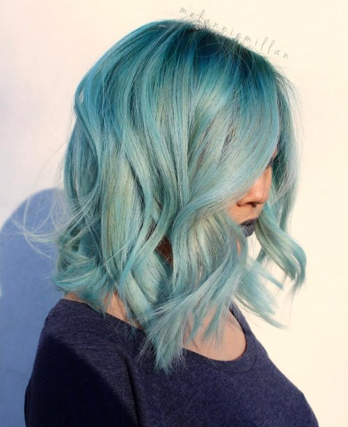 30 Icy Light Blue Hair Color Ideas for Girls - photo #10