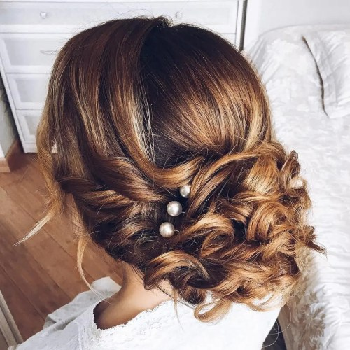 Wedding Hairstyles Down Curly: Top 20 Wedding Hairstyles For Medium Hair