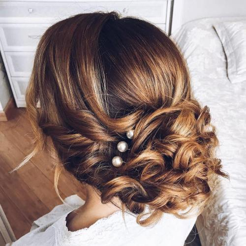 Curly Updo Hairstyles For Weddings: Top 20 Wedding Hairstyles For Medium Hair