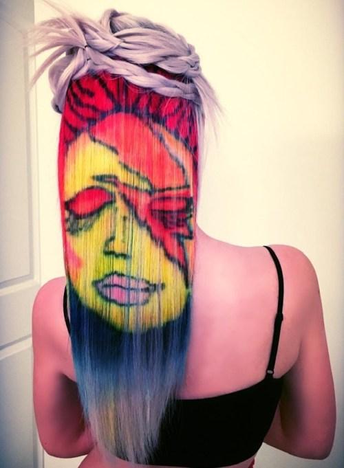 Hair Graffiti For Blonde Hair