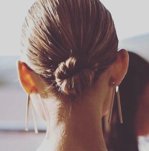 slick hair bun