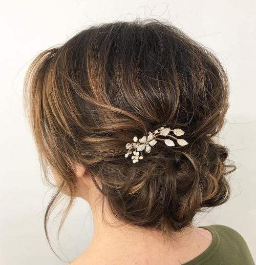 Top 20 Fabulous Updo Wedding Hairstyles: Top 20 Wedding Hairstyles For Medium Hair